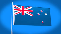 the national flag of New Zealand Animation