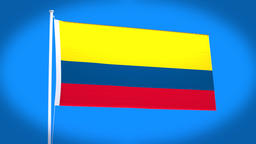 the national flag of Colombia Animation