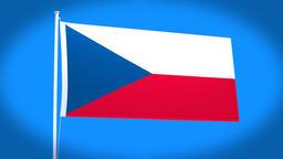 the national flag of Czech CG動画