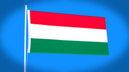 the national flag of Hungary Animation