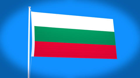 the national flag of Bulgaria Animation