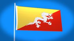 the national flag of Bhutan CG動画