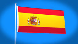 the national flag of Spain Animation