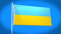 the national flag of Ukraine CG動画