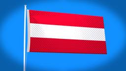 the national flag of Austria CG動画