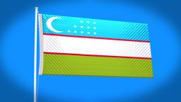 the national flag of Uzbekistan CG動画