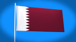 the national flag of Qatar Animation