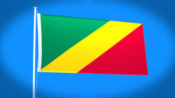 the national flag of Congo Animation