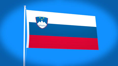 the national flag of Slovenia Animation