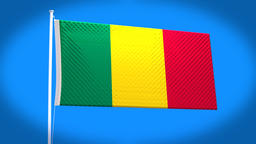 the national flag of Mali Animation