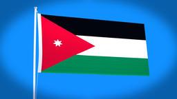 the national flag of Jordan Animation