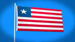 the national flag of Liberia Animation
