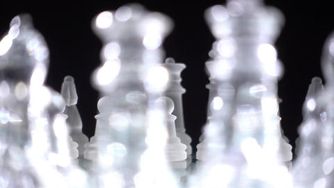 Chess pieces, ready to play Footage