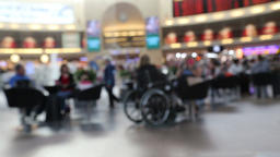 Blurred people in food court Footage