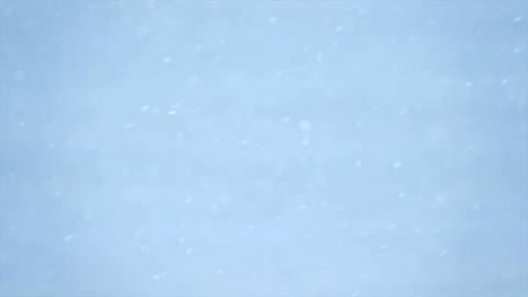 Snow flakes falling in slow motion Footage