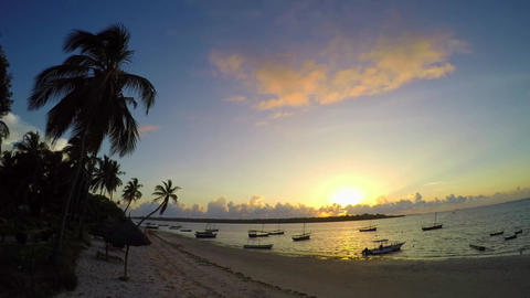 Morning Mafia island. Tanzania. Of the Indian ocean Footage