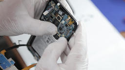 Cell phone in a lab Footage