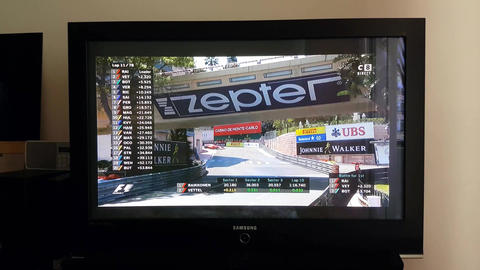 Watching Formula One Live on TV Footage