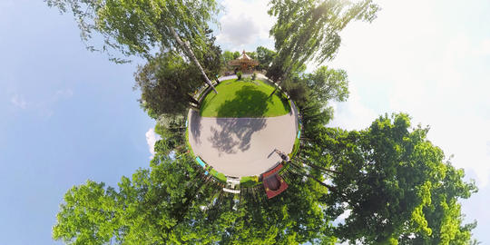 tiny planet child's carousel Footage