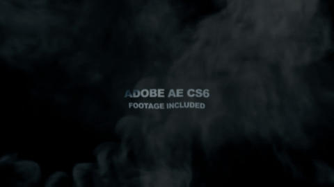 Smoke Titles Logo Reveal After Effects Template
