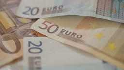 Euro currency money bills Footage