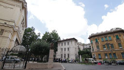 Exterior of the Jewish synagogue in Rome Footage