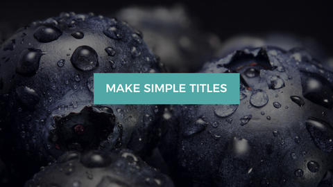 Inspiration Titles After Effects Template