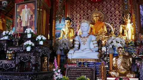 Buddhist Temple Interior Asia 4k Archivo