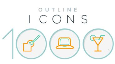 1000 Outline Icons After Effects Template