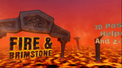 Fire & Brimstone - Loopable 360 Panoramic of Hell After Effects Template