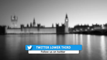 Social media lower third package Template After Effect