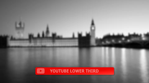 Social media lower third package After Effects Template
