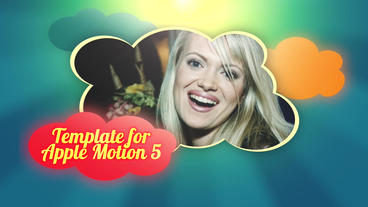 Up In The Clouds: Template for Apple Motion 5 and Final Cut Pro X Apple Motion-Vorlage