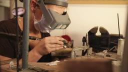 Jewelry Designer At Workshop Footage