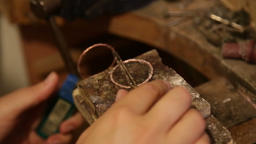 jewelry making soldering process Footage