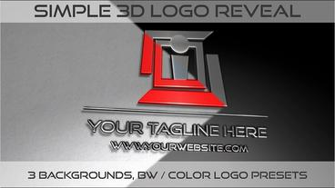 Simple 3D Logo reveal Plantilla de After Effects