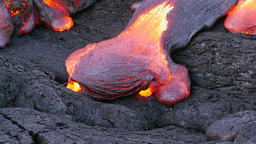 Flowing lava in Hawaii Footage