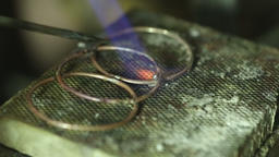 Macro detail shot of soldering jewelry Footage