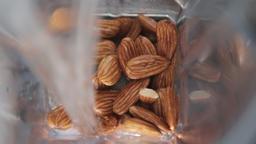 Making almonds milk Footage