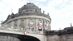 View of the Bode museum from the river Stock Video Footage