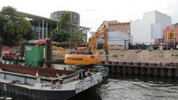 constructions in berlin Footage