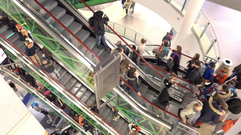 Time lapse video of escalator in 4K ビデオ