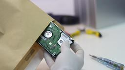 Hard drive malfunction Footage
