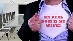 My boss is my wife concept shirt Footage