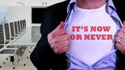 Now or never concept shirt Footage