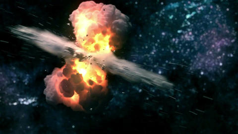 Space Explosion CG動画素材