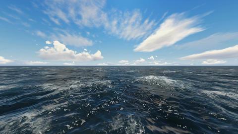Flight Over Ocean Waves Animation