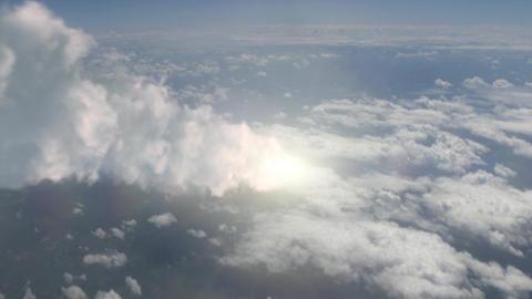 Meteor (Asteroid) burns in atmosphere Animation