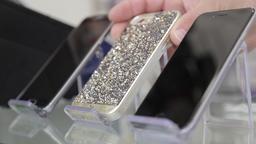 Smartphone protective jewel case Footage
