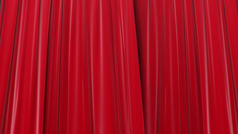 Zooming on Red Curtains, Opening and closing 3d animation, HD 1080, Green Screen Animation